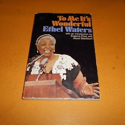 Ethel Waters was an American singer and actress Hand Signed Paperback