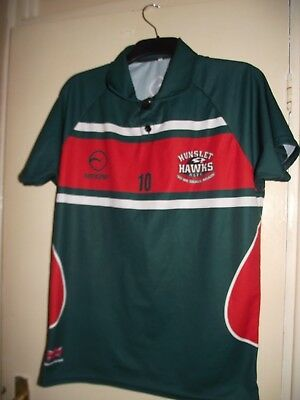 hunslet hawks rugby league shirt training large no 10 on front good cond