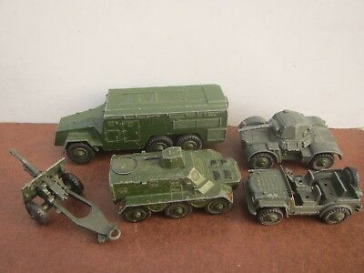 Old Job Lot of Dinky Military Vehicles - 670, 674, 676, 677, 686