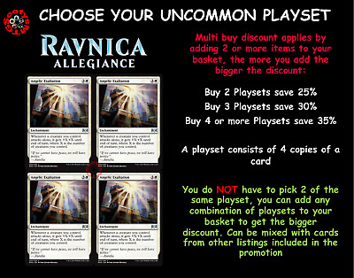 MTG Ravnica Allegiance RNA Choose your Uncommon Playset - New Pre-Order 25/01/19