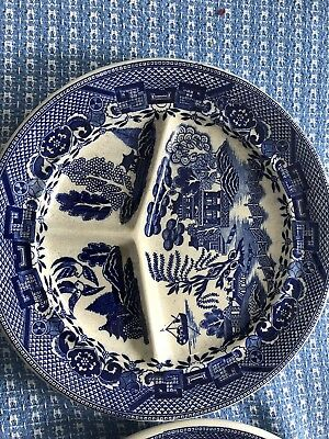 Blue Willow Japan Vintage Divided Grill Restaurant Ware Plates