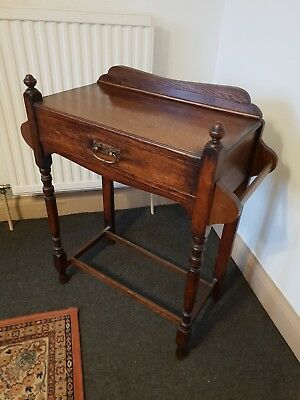 Antique Oak hall table with drawer traditional