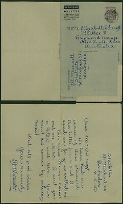 Barbados 1950 - Air mail Stationery to Australia 30268