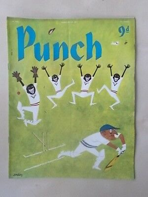 VINTAGE PUNCH MAGAZINE MAY 29th 1957 HUMOUR - CARTOONS - ADVERTS FREE POST
