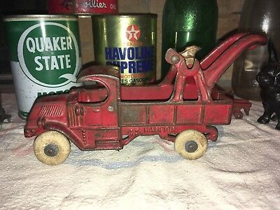 "Antique Cast Iron Mack Champion Tow Truck Original Toy 8"" Vintage Old  Arcade"