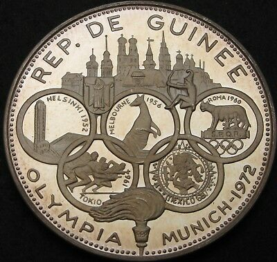 GUINEA 500 Francs 1969 Proof - Silver - 1972 Summer Olympics - 2214 ¤