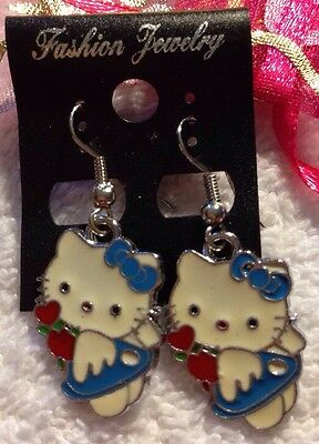 """NEW """"Hello Kitty"""" Earrings/USA Seller!! QUICK Shipping!! FREE GIFT BAG"""