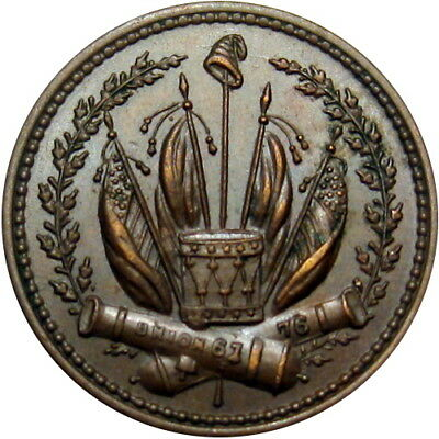 1863 Liberty Cannons Flags Drum Patriotic Civil War Token