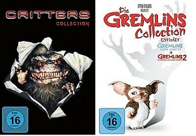 Critters Collection Teil 1+2+3+4 + Gremlins Teil 1+2 DVD Set NEU OVP
