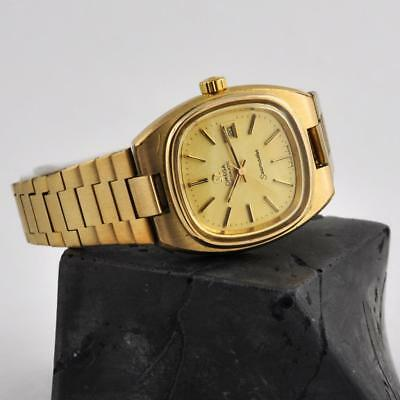 Ladies Omega Seamaster Model Automatic Date Vintage Swiss Gold Plated W Bracelet