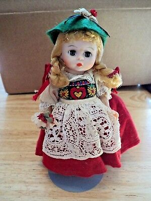 International series Madame Alexander SWISS doll w/ metal stand