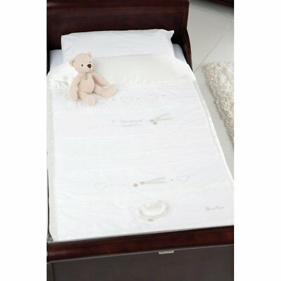 Silver Cross Cot and Bed Quilt Handmade With Love Quilt almost 1/2 Price RP £65