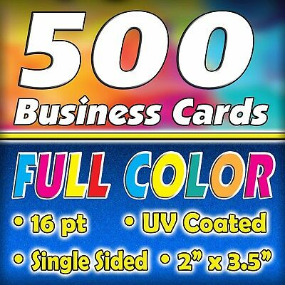 500 16pt. Full Color Business Cards - FREE Shipping $19.97