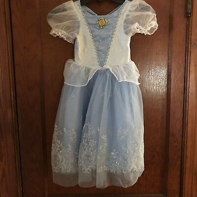Disney Store Cinderella Princess Costume Dress  Gown Size 4-5