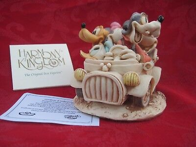 Disney Harmony Kingdom Trinket Box Fabulous Five Out for Drive Made in England