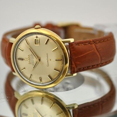 Authentic 1966' Omega Constellation Gold Plated Automatic Cosc Date Gents Watch