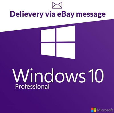 Microsoft Windows 10 Pro Professional Key Full Version Code 32 & 64 Bit Product