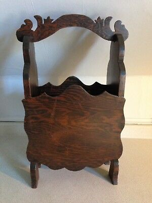 Beautiful Antique Dark Stained Wood Umbrella Stand / Cane Stand, Great Patina