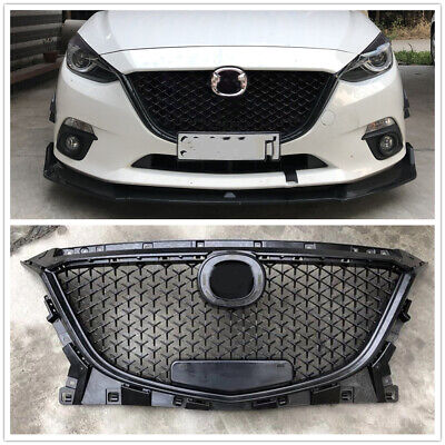 Black Front Upper Grille Honeycomb Grill For Mazda 3 Axela 2014-2016 2015