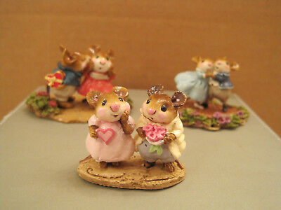 Wee Forest Folk Lot of 3 Valentine pcs. including M-079 Sweethearts Ltd. to 1982