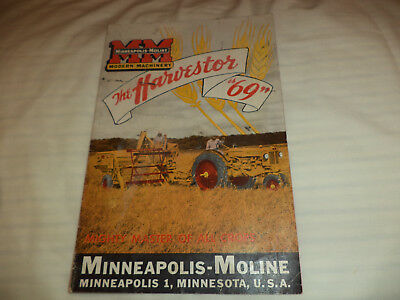 "Minneapolis Moline  , The Harvester  ""69"" Brochure      86539-V-40M   Cp"