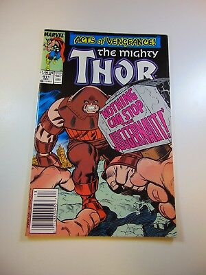 Thor #411 1st cameo appearance of The New Warriors FN/VF condition