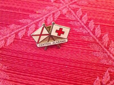 American Red Cross Vintage Chapter Pin From Central Alabama. Pre-owned