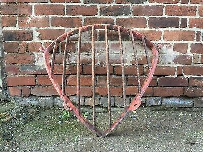 Large Heavy Reclaimed Cast Iron Antique Corner Stable Cattle Hay Rack Feeder