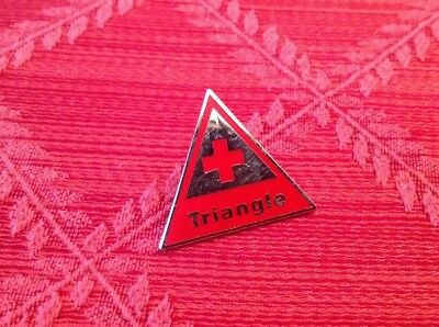 Vintage American Red Cross Chapter Pin Triangle Pre-owned