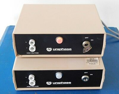 UNIPHASE 1201-1 Laser Power Supply LOT ~ Only 1 Key & 1 Remote Control ~ WORKS
