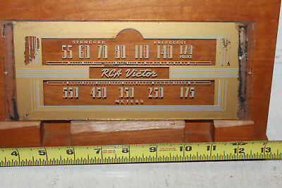 Vintage RCA Victor Radio Dial Glass Rare Gold