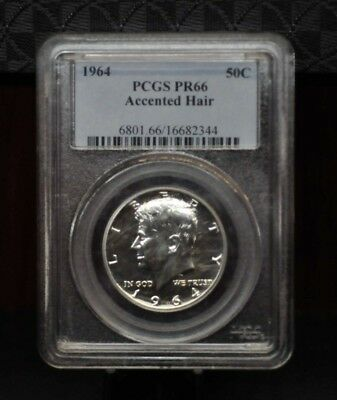 1964 PCGS PR66 Accented Hair Proof Silver Kennedy Half Dollar [01DUD]