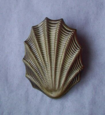 Antique Brass finish  Pin Brooch - SHELL BEACH  SHAPE