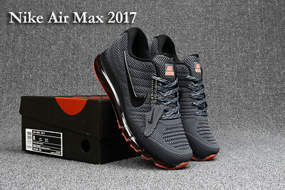NEW NIKE Air Max 2017 Men's Running Trainers Shoes--gray