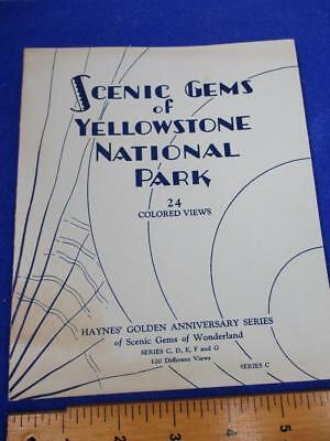 1929 Scenic Gems Yellowstone National Park Haynes Series C 24 Colored Views ST22