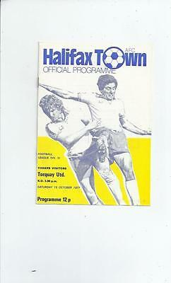 Halifax Town v Torquay United Football Programme 1977/78