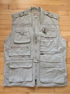 WOOLRICH FLY FISHING VEST Hunting Camping Outdoor Photography Sport Mens XL