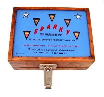 Vintage Sparky Trade Simulator Coin Slot Machine Poker Game by Star Amusements