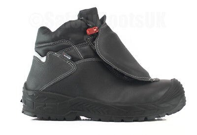 UK Size 8 Cofra S3 M HRO SRC Armor  Safety Shoes boots - Black
