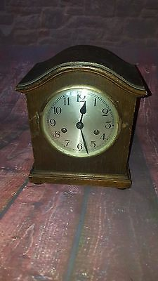 Antique Vintage UM Muller & Co Wooden Mantle Table Clock German