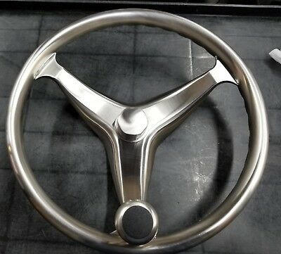 "Schmitt Boat Steering Wheel Cast Stainless Steel 15.5/"" diameter Satin Finish"