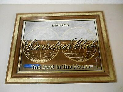 """Vintage Canadian Club Whiskey Mirror """"The Best in The House"""""""