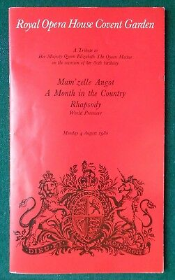 Antique Royal Opera House Covent Garden Programme Queen Mother 80th Birthday