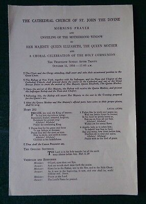 Antique Ceremonial Cathedral St John Unveiling Window Queen Mother 80th Birthday