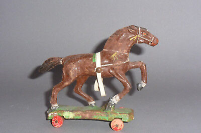 Altes DDR wild West Gespann Pferd  - Massefigur