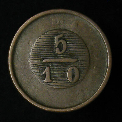1831 Argentina BUENOS AIRES 5/10 Real KM# 3 1.831 berry between 1 and 8