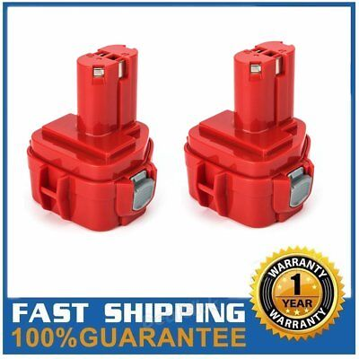 2 Packs 1220 Replace For Makita 12V Battery 2.0Ah Ni-CD PA12 1222 1200 1201