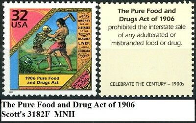 Pure Food and Drug Act of 1906 Scarce Mint MNH Stamp Scott's 3182F