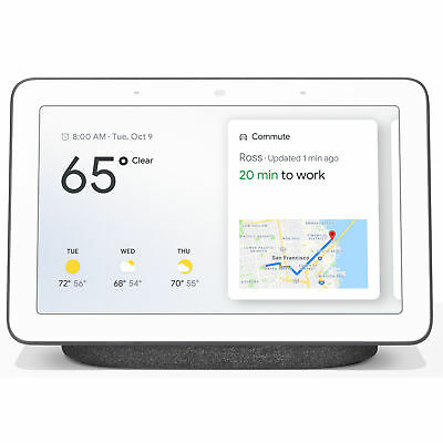 Google Home Hub with Google Assistant (GA00515-US) - Charcoal (sealed In Box)