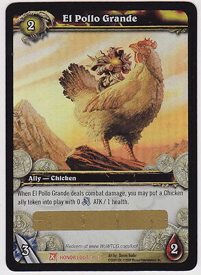 World of Warcraft WOW TCG EL POLLO GRANDE Unscratched Loot Card